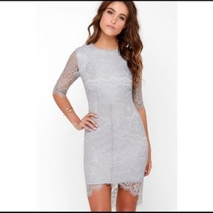 Lulus dress Light Blue Lace Dress S